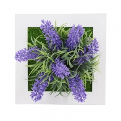 3D Simulation plant wall photo frame square flower ornament wall hanging wall decoration home decor 1A 15.3X15.3X3cm