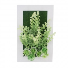 3D Simulation plant ornament wall photo frame flower wall hanging wall decoration home decor 1C 15x24x3.5cm