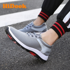 Men's Casual Running Tide Shoes Wild Lightweight Male Outdoor Walking Sport Student Sneakers gray 39
