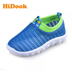 HiDook Children's Boys and Girls Mesh Net Light Sports Shoes Baby Toddler Sneakers Student Sandals blue 22