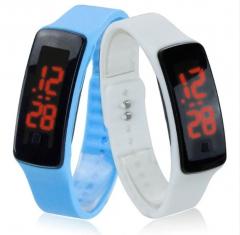 LED electronic watch gift gift electronic watch led Bracelet silicone electronic watch black