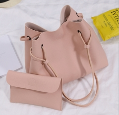 Autumn and winter Han edition size single shoulder sloping across the big bag fashion hot handbag pink 25*25*10