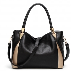 European and American fashion handbags large capacity ladies handbags shoulder bag balck 31*13*25