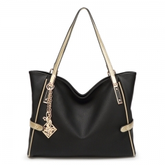 Women's bags are decorated with European and American fashion bag balck 36*28