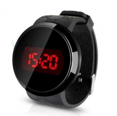 Touch screen LED electronic watch fashion student jelly watch men and women watches black