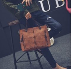 Women Shoulder Bag Female all grounds for Everyday purchases All Use High Quality Ladies Handbag brown 32*25*12