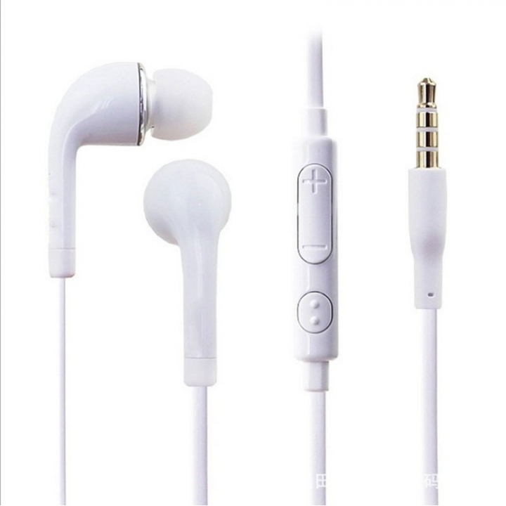 Heavy bass earphone, ear control, Android Apple mobile phone headset white