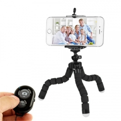 Flexible Sponge Octopus Tripod For Phone Bluetooth Remote Shutter Mini Bracket Table Desk Tripod black only Octopus Tripod
