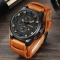 Army Military Quartz Mens Watches Top Brand Luxury Leather Men Watch Casual Sport Male Clock Watch black and brown