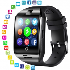 Bluetooth Smart Watch Men With Touch Screen Big Battery Support TF Sim Card Camera for Android Phone white and silver