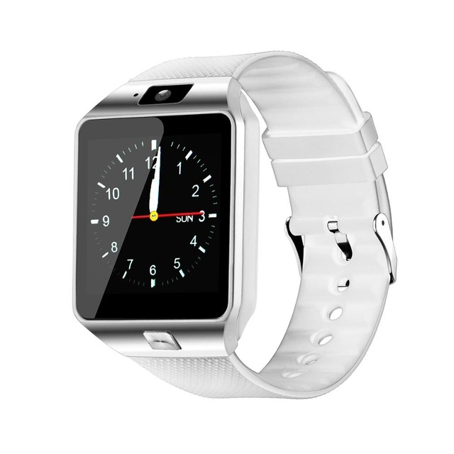 Smart Watch Smartwatch Passometer Support SIM TF Card Smartwatch DZ09 Reminder Smart Watch for Phone white