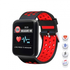 Smart Watch Waterproof Professional Sport Modes Smart Band Heart Rate Blood Pressure Oxygen Longtime red