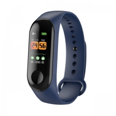Color IPS Screen Smart Sport Fitness Bracelet IP68 Waterproof Blood Pressure Oxygen Activity Tracker blue