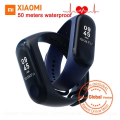 Xiaomi Mi Band 3 Miband 3 Smart Tracker Band Instant Message 5ATM Waterproof OLED Touch Screen Mi 3 black standard