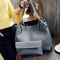 Autumn and winter Han edition size single shoulder sloping across the big bag fashion hot handbag grey 25*25*10