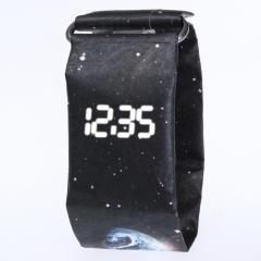 Fashion Creative Paper Digital Watch Men Women Wrist Watch Waterproof Electronic Watches  LED Clocks black