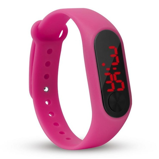 fashion boys girls kids children students sport digital led watches new men women touch screen gift rose watches gift