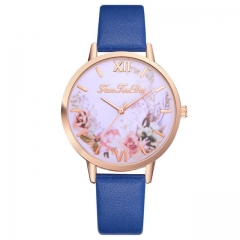 Hot Sale Women watch Casual Fashion Quartz Belt Watch Clock Fashion Gift montre femme blue