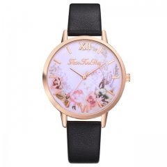Hot Sale Women watch Casual Fashion Quartz Belt Watch Clock Fashion Gift montre femme black