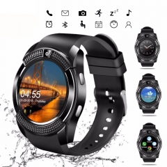 Sport Smart Watch Anti-lost Smartwatch Support SIM TF Card Clock Camera Call Step Count Sleep Remind black