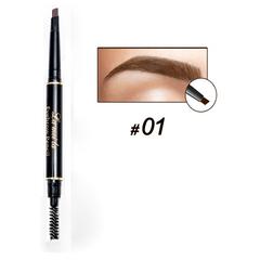Two Ends Eye Brow Tint Cosmetics Natural Long Lasting Paint Tattoo Eyebrow Waterproof Eyebrow Pencil 01