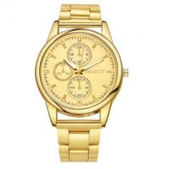 2018 Fashion Reloj Hombre Watch Men's Elite Brand Retro Gold Watch Date Men's Classic Gift Gold
