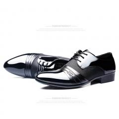 Men Dress Shoes Plus Business Flat Shoes Black Brown Breathable Low Top Men Formal Office Shoes black 38