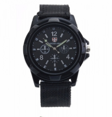 Fashion Swiss braided military watch Gemius Swiss sea, land and air army army sports watch black