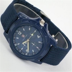 Fashion Swiss braided military watch Gemius Swiss sea, land and air army army sports watch blue