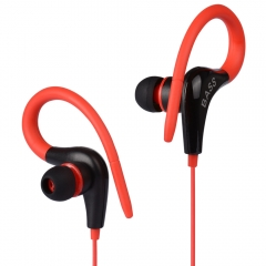 Earphone GSDUN XB13 Ear Hook Sport Headset Light Weight Bass Running Headphone red