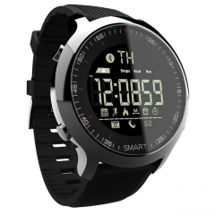 LOKMAT Smart Watch Sport Waterproof pedometers Message Reminder Bluetooth Outdoor swimming black