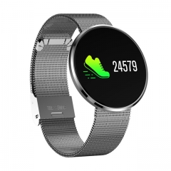 Interpad  IP68 Waterproof Heart Rate Monitor Smartwatch Sleep Monitor Support Remote Camera silver