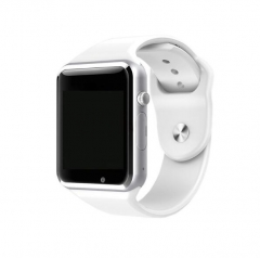 Factory A1 Smart Watch With Passometer Camera SIM Card Call Smartwatch white