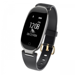 Bluetooth Waterproof S3 Smart Watch Fashion Women Ladies montre Heart Rate  For Android IOS reloj black
