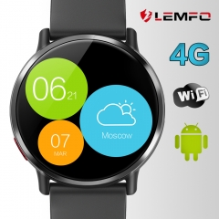 LEMFO LEM X Android 7.1 4G 2.03 Inch 900Mah 8MP Camera Waterproof Luxury Smart Watch Sport GPS black