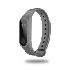 OLED Touch Screen BT 4.0 Bracelet Fitness Tracker Heart Rate Sleep Monitoring Pedometer gray