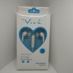 Peach heart control with wheat in-ear universal mobile phone headset picture color oppo