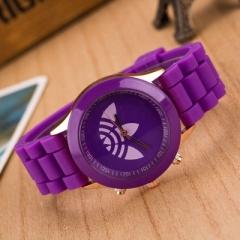 2018 New Fashion Sports Brand Quartz Watch  ad Casual Silicone Women Watches Relogio Feminino Clock purple