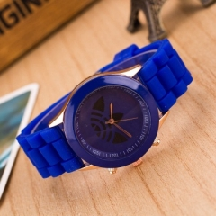 2018 New Fashion Sports Brand Quartz Watch  ad Casual Silicone Women Watches Relogio Feminino Clock blue