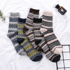 Winter Thick Warm Stripe Wool Socks Casual Calcetines Hombre Sock Business Male Socks picture color1 One size