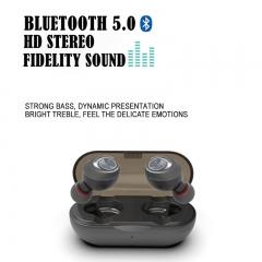 Wireless TWS Earbuds V5.0 Bluetooth Earphone Headset Deep Bass Stereo Sound Sport Earphone black
