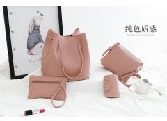 4Pcs Women Pattern Leather Handbag Crossbody Bag Messenger Bag Card Package Capacity Crossbody Bag green 1