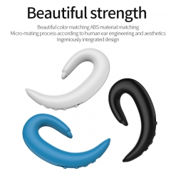 HT100 Wireless Headphone Bluetooth Earphone Ear Hook Painless Headset Blutooth Sport Headphones white one