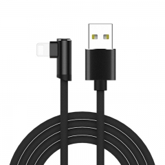 iPhone X 6 6s 7 8 Fast Charging Cable For iPad USB Charger Cable L Type Data Cable black 1.2iPhone