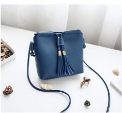 Autumn and Winter 2018 New Liuzhou Single Shoulder Key Mobile Bag blue 1
