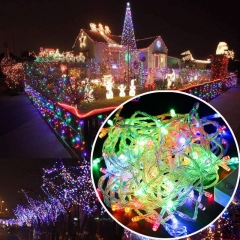 220V 10m 100Leds Indoor Drop LED Party Garden Stage Outdoor Decorative Light Christmas Garland Consulting service 1 one
