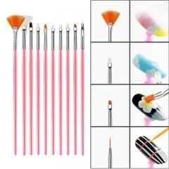 15PCS Set Armor Painting Brush Set Armor Painting Brush Set Pink
