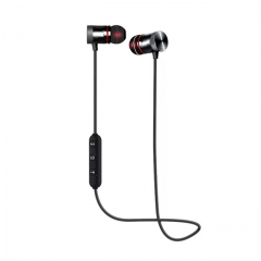 Newest  Wireless Bluetooth  Sport with Mic Earphones Handsfree Headset  Earphone for iPhone Samsung black