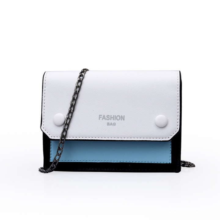 f87f8b640d81 2019 Korean version Baitao inclined bag chain single shoulder bag for girls  blue 1
