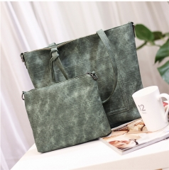 Big Bag  Fashion Cloth-pattern  Large Capacity Hand-held Simple Lady's Single Shoulder Bag green 1